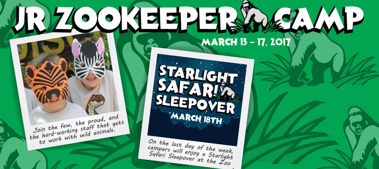 Jr. Zookeeper Camp - March 13 – 17, 2017