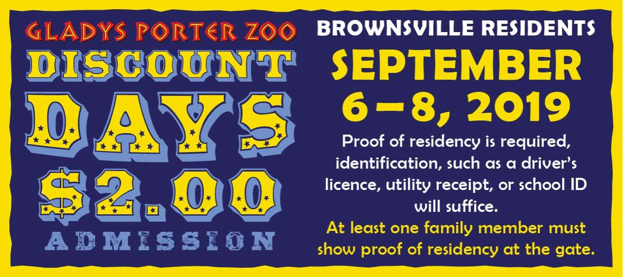 Brownsville Residents Discount Days